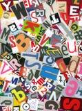Caos del alfabeto Imagenes de archivo