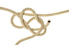 Caos del lío de la cuerda del cáñamo Imágenes de archivo libres de regalías