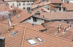 Caos del tejado Fotos de archivo libres de regalías