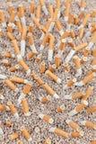 Caos delle sigarette da sopra Immagine Stock