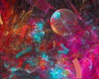 Caos digitale astratto di energia di frattale, bella progettazione della decorazione, dinamica futuristica del partito royalty illustrazione gratis