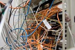 Caos dos fios e dos contatos Imagem de Stock