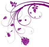 Caos floral ilustración del vector