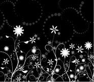 Caos floral stock de ilustración