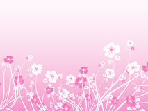 Caos floral ilustração do vetor