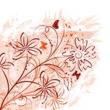 Caos floral abstrato ilustração royalty free