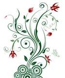Caos floral abstrato Fotografia de Stock Royalty Free