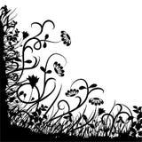 Caos floral, vetor ilustração royalty free