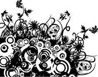 Caos floreale, vettore illustrazione di stock