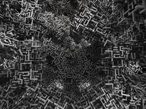 Caos geometrico 1 Fotografia Stock