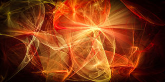 Caos morno de linhas abstratas da energia Fotografia de Stock Royalty Free