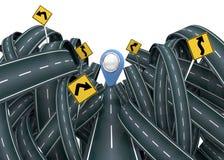 Caos och clomplicated gata - 3D Royaltyfri Foto