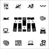 caos sull'icona della cartella insieme universale delle icone di caos per il web ed il cellulare illustrazione vettoriale