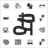 Caos sull'icona della strada insieme universale delle icone di caos per il web ed il cellulare royalty illustrazione gratis
