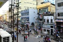Caos in un mercato indiano Immagine Stock Libera da Diritti