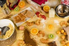 Caotic breakfast Royalty Free Stock Photos