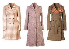 Caots. Woman coats isolated on white background Stock Photo