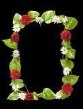 Capítulo adornado con las hojas y las flores Fotografía de archivo libre de regalías