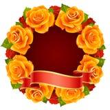 Capítulo anaranjado de Rose en la dimensión de una variable de redondo Foto de archivo