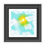 Capítulo con el cielo soleado aislado en blanco libre illustration