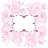 Capítulo con el fondo floral Imagen de archivo libre de regalías