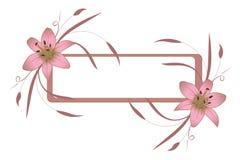 Capítulo con el lirio rosado Imágenes de archivo libres de regalías