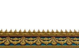 Capítulo con el modelo tailandés de la pared del arte en el templo de Tailandia Imagen de archivo
