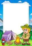 Capítulo con el pequeño explorador ilustración del vector