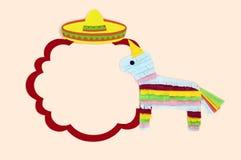 Cap?tulo con el sombrero y pinata para Cinco de Mayo