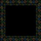 Capítulo con florituras coloreadas Foto de archivo libre de regalías