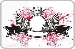 Capítulo con la bandera y la corona Foto de archivo libre de regalías
