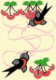 Capítulo con la baya y el pájaro Ilustración del Vector