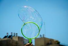 Capítulo con la burbuja de jabón Fotografía de archivo