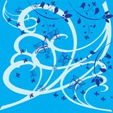 Capítulo con la planta azul adornada Libre Illustration