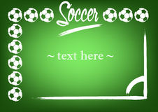 Capítulo con las bolas y la marca de fútbol Foto de archivo libre de regalías