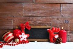 Capítulo con las decoraciones de la Navidad Fotos de archivo libres de regalías