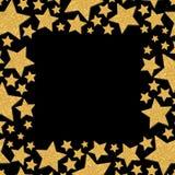 Capítulo con las estrellas del reflejo Marco de la chispa del oro de estrellas Co amarillo libre illustration