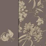 Capítulo con las flores drenadas mano Imagen de archivo libre de regalías