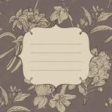 Capítulo con las flores drenadas mano Imagen de archivo