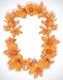 Capítulo con las flores drenadas mano Foto de archivo