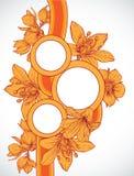 Capítulo con las flores drenadas mano Fotografía de archivo