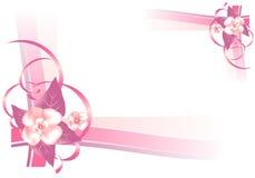 Capítulo con las flores rosadas, vector de los cdr Fotografía de archivo