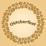 Capítulo con las hojas de arce para el vector de Oktoberfest ilustración del vector