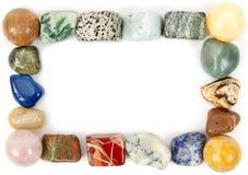 Capítulo con las piedras minerales Imagen de archivo libre de regalías
