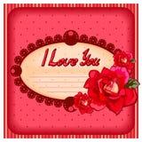 Capítulo con las rosas Foto de archivo libre de regalías
