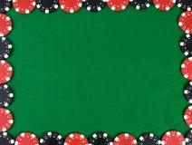 Capítulo con las virutas de póker Imagen de archivo libre de regalías