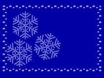 Capítulo con los copos de nieve Fotos de archivo
