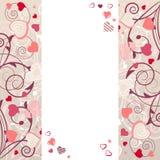 Capítulo con los corazones estilizados stock de ilustración
