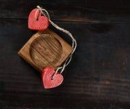 Capítulo con los corazones para el día de tarjeta del día de San Valentín Fotografía de archivo libre de regalías
