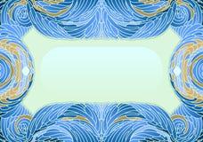 Capítulo con los elementos lágrima-formados del esquema de color azul Foto de archivo libre de regalías